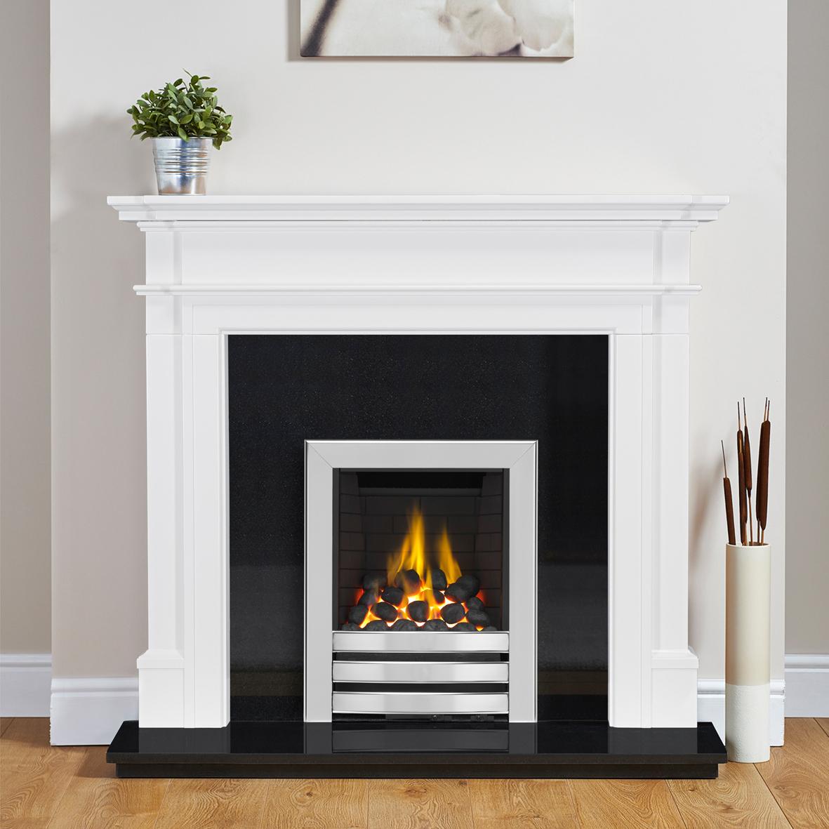 Langham Chrome Gas Full Depth Fire (Manual control)