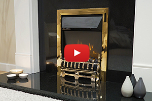 Blenheim Brass LED Electric fire