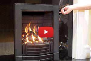 Finsbury Black Gas Full Depth Fire (Fingerslide Control)